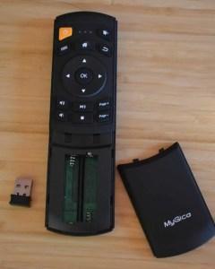 MyGica ATV1900 Pro remote battery compartment