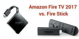 Amazon Fire TV vs Fire stick