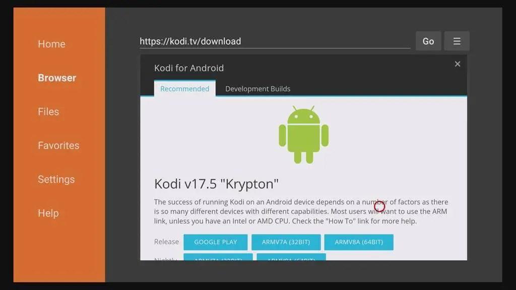 sideload Kodi on the Amazon Fire TV