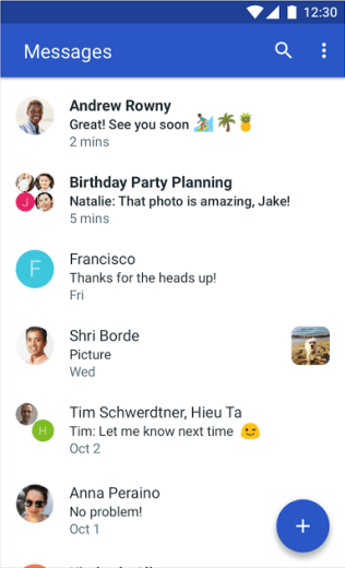 Android Messages Screenshot - Android Picks