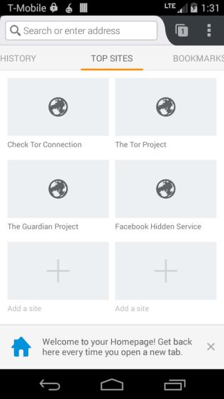 Orfox Screenshot - Android Picks (2)