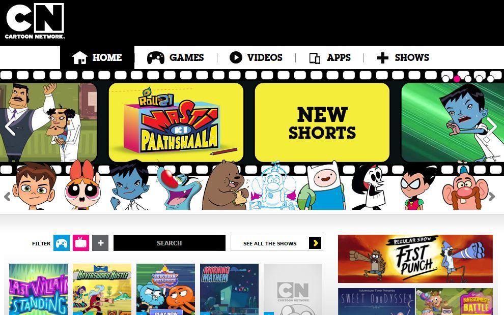 best cartoon games network