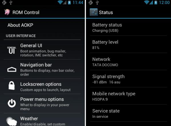 AOKP ics p ROM CONTROL e