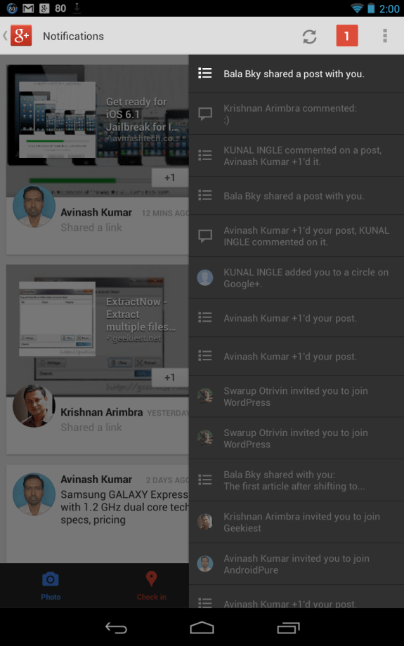 Google+ Notifications