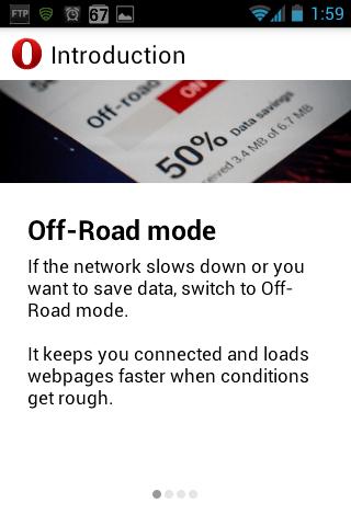 Opera Webkit Beta Offroad mode