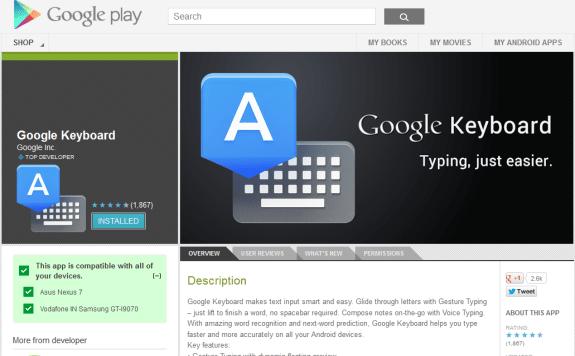Google Keyboard India