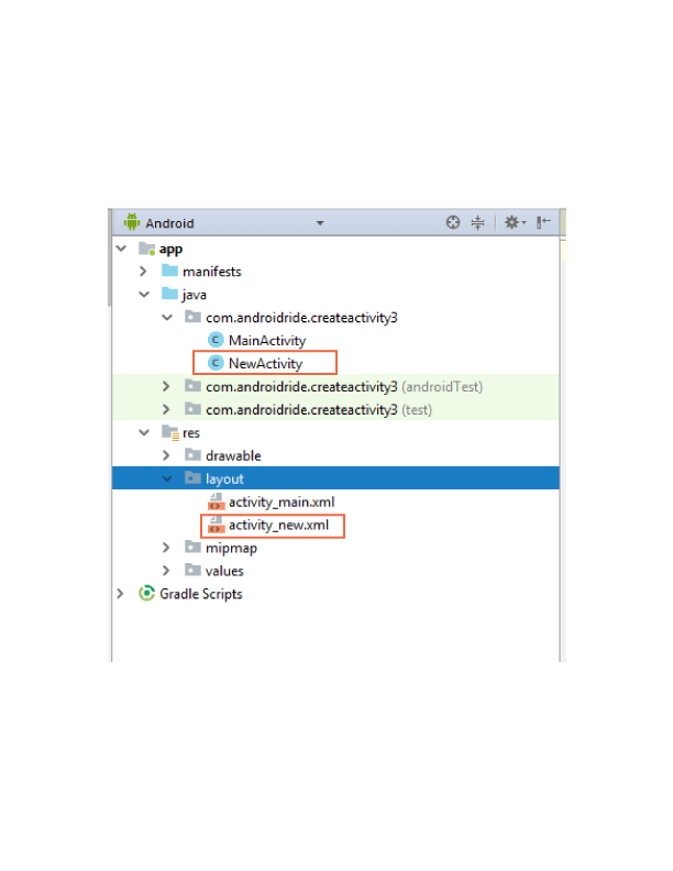 new file structure - how to create another activity in android studio