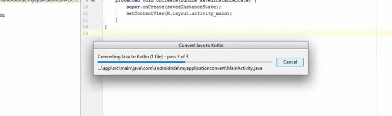 convert java class to kotlin android studio