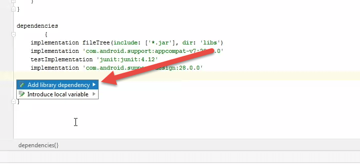 how to add support library in android studio
