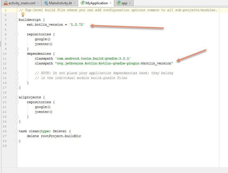 how to convert java class to kotlin in android studio 2