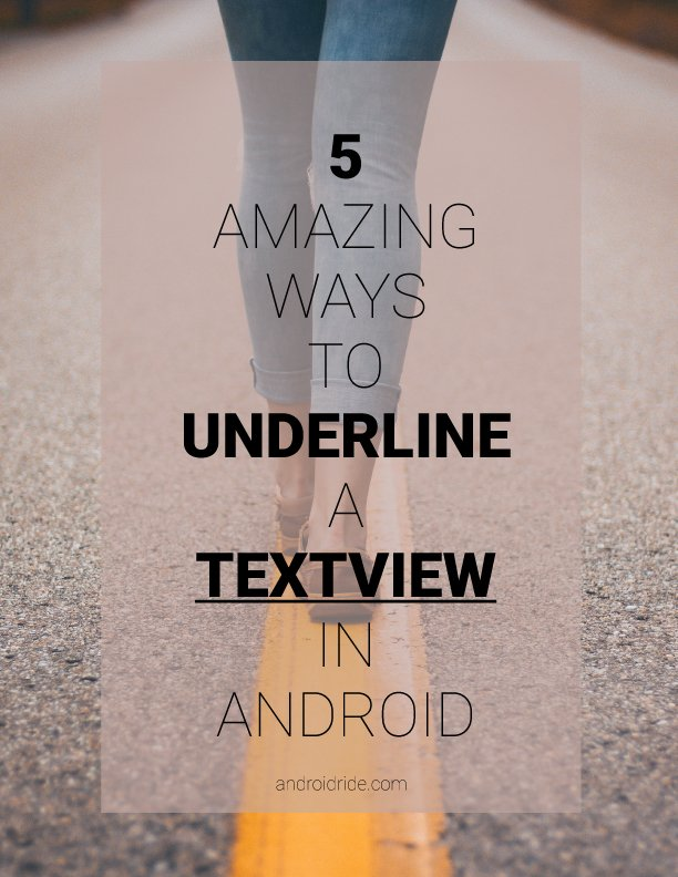 underline a textview in android