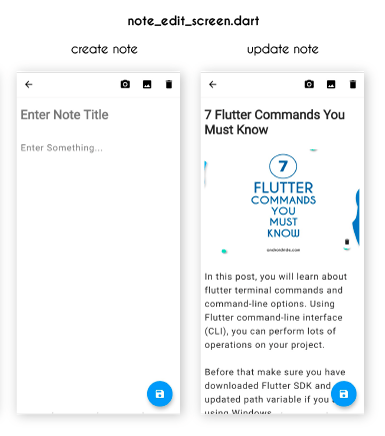 flutter note edit screen