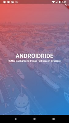 flutter gradient on top of image