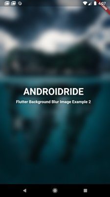 flutter background blur image using stack