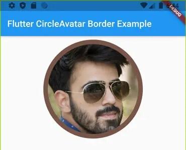 circleavatar border flutter