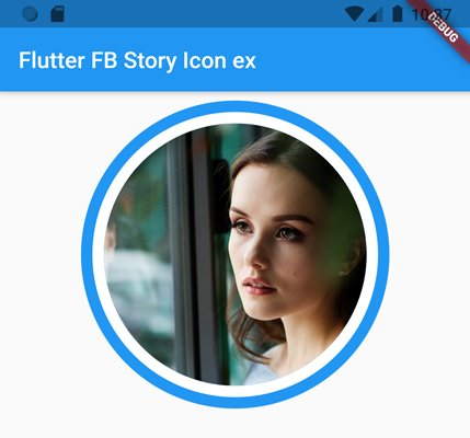 Flutter circleavatar FB story icon example