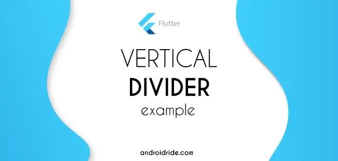 vertical divider flutter example