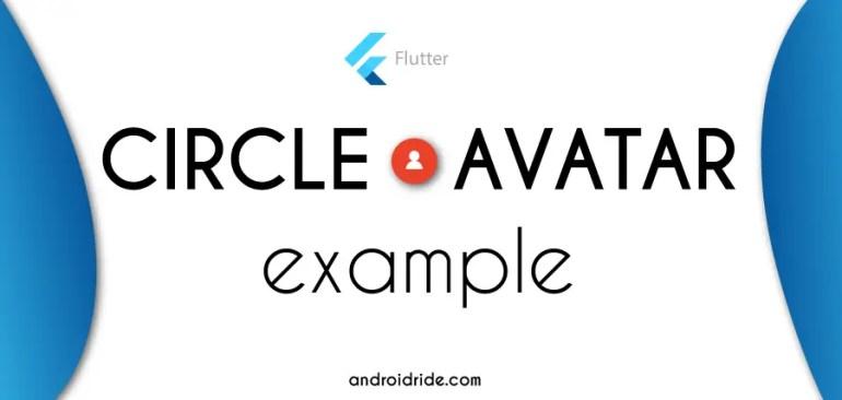 flutter circleavatar example