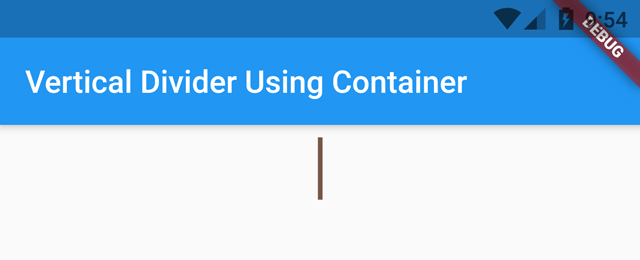 vertical divider using container