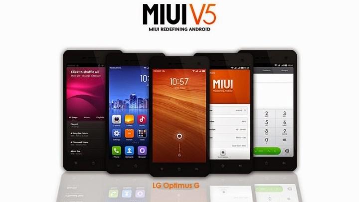 MIUI V5 para Optimus G E975 / E977