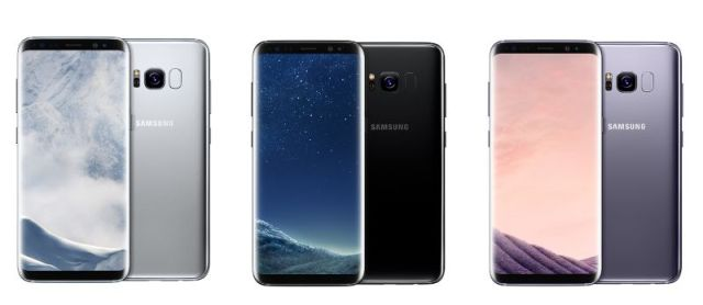 Samsung Galaxy S8 and S8+ Colors