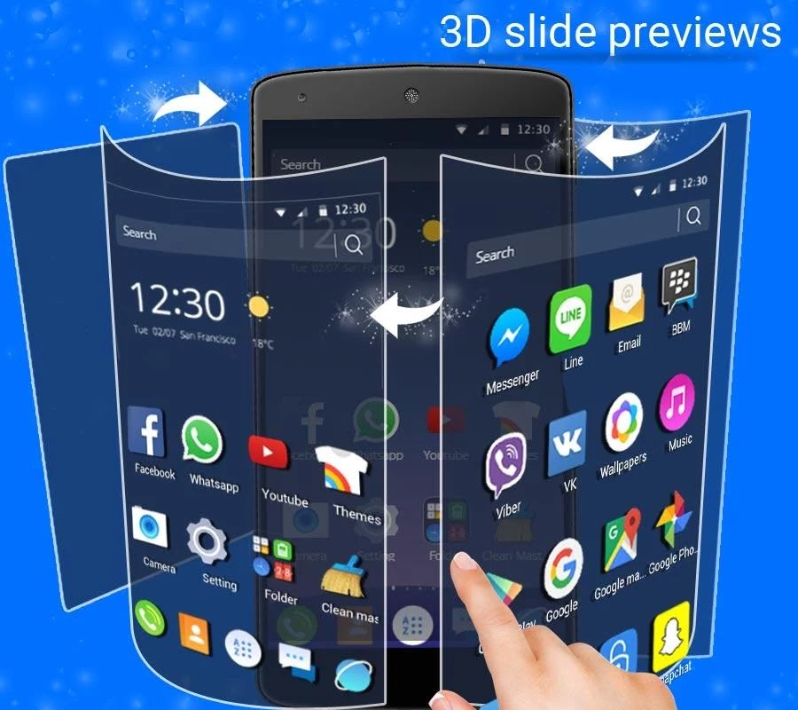 لانشر CM Launcher 3D Pro v5.1.11 افضل لانشر آمن للاندرويد - android top news