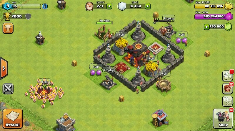 clash of clans on android 1.com