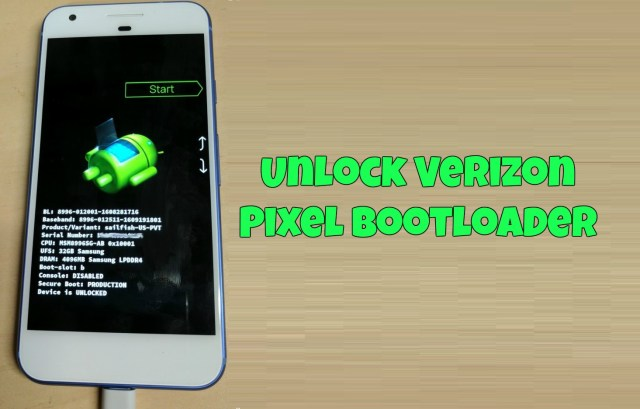 Unlock Bootloader on Verizon Google Pixel