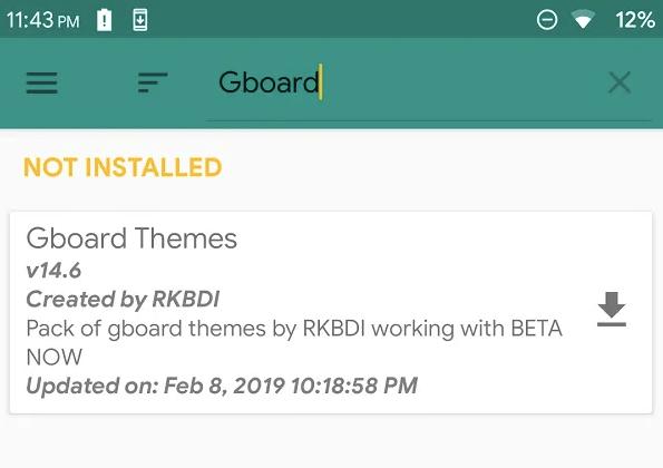 Free Gboard Themes