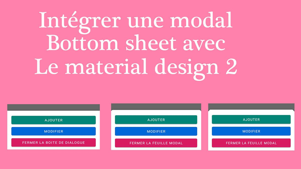 modal bottom sheet sur android