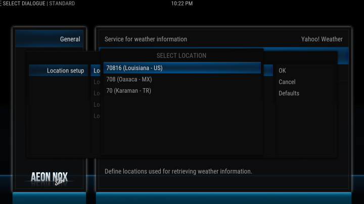 how to configure your weather location on kodi screen 6