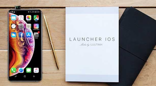 android için ios görünümü Launcher iOS 13 2020