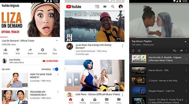 Video uygulaması YouTube
