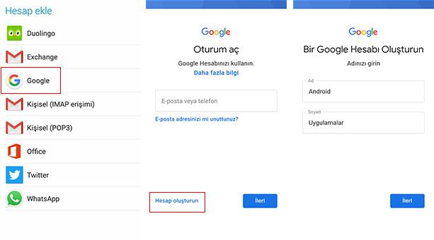 google hesabı açma görselle anlatım 2020