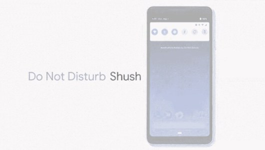 android pie shush gesture xperia xz2