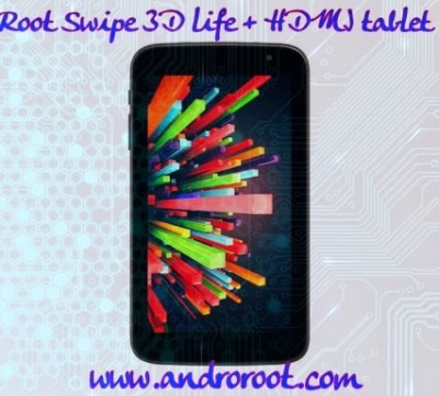 How to root swipe 3d life+ tablet www.androroot.com
