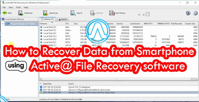 How to Recover Data from Smartphone using Active@ File Recovery software