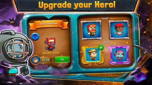 Dig Out Mod Apk Unlimited Money No ADS Free Download with Dig Out v2.15.0 Apk Mod hack Money Gold Digger AdFree infinite life, No ADS keys, life strength, coins, and pickaxe unlock all skins craft items download for Android on 1 happy pure 4