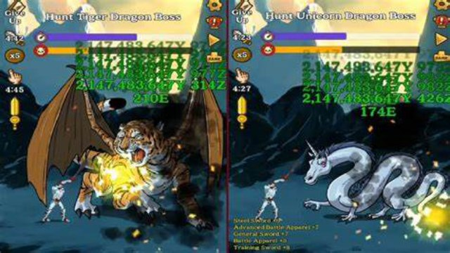 Monster Hunter Clicker Mod Apk Unlimited Money Download hack Free for Android happy pure 1 gems RPG Idle game 5