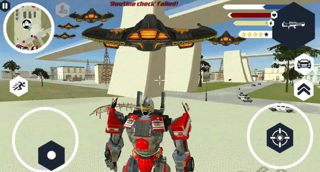 Robot Firetruck Mod Apk Menu Unlimited Cash free download Android unlock gameplay God Mode Menu weapons happy 6