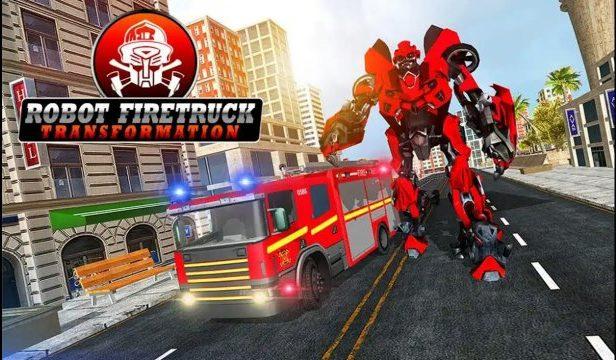 Robot Firetruck Mod Apk Menu Unlimited Cash free download Android unlock gameplay God Mode Menu weapons happy 7