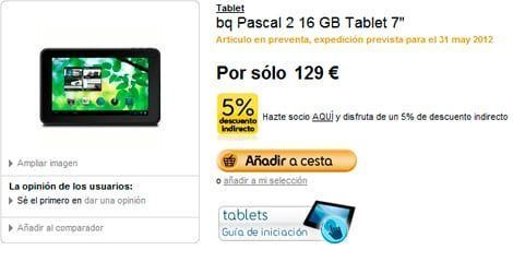 Pascal 2 16GB en Fnac