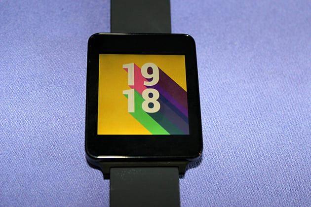LG G Watch pantalla