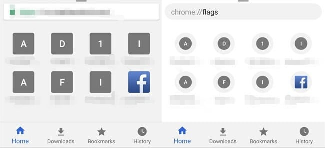 Posible nueva interfaz Google Chrome Android