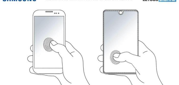 Samsung trabaja en un lector de huellas dactilares que abarcaría el área completa de la pantalla del smartphone