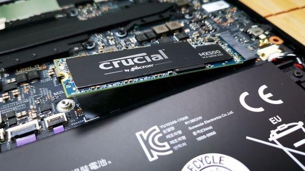 SSD insertado