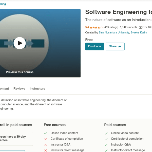 Software Engineering for Beginner