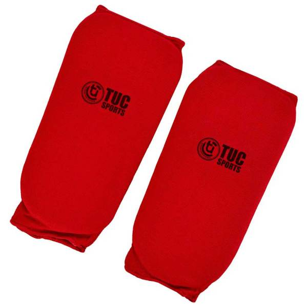 tuc-sports-elastic-shin-pads-Red