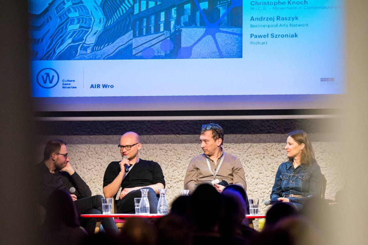 "Air Wro Talks, ""Wrocław - Berlin Platform for creative sectors"" discussion [16.03.2018], Photos: Marcin Jędrzejczak"