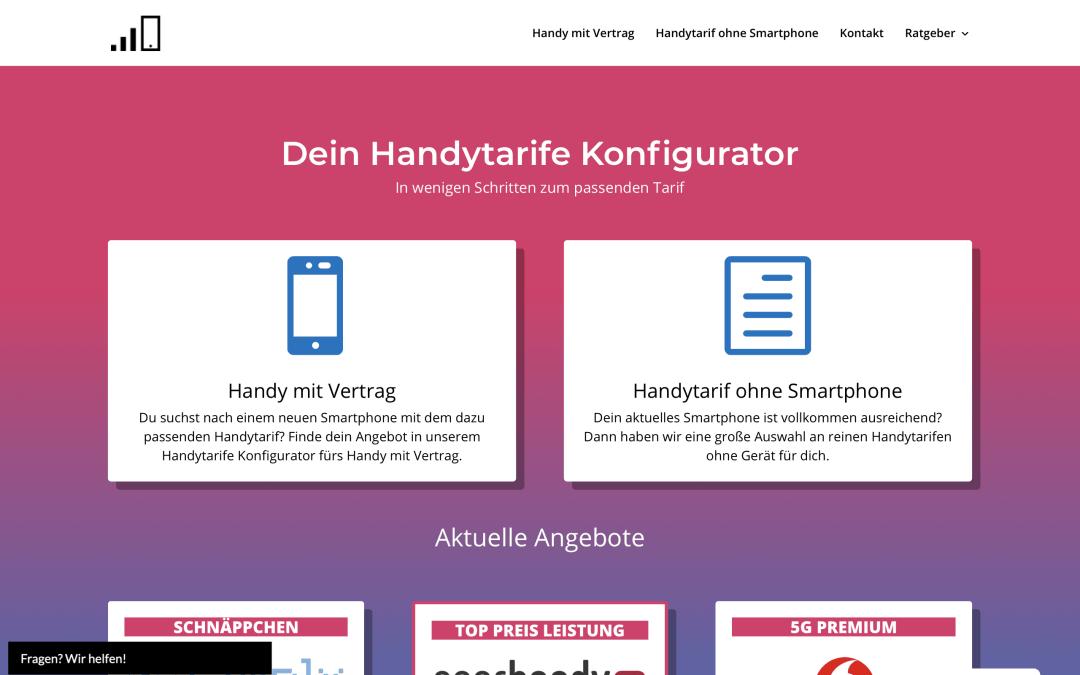 Vergleich Webseite Webdesign